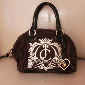 Juicy Couture brown suede bag and leather